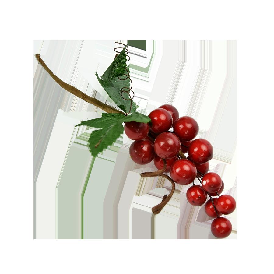 Gałązka ozdobna ze sztucznymi owocami10cm