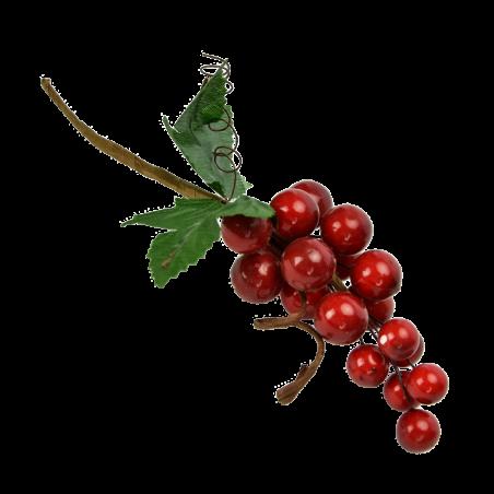 Gałązka ozdobna ze sztucznymi owocami10cm  - 1