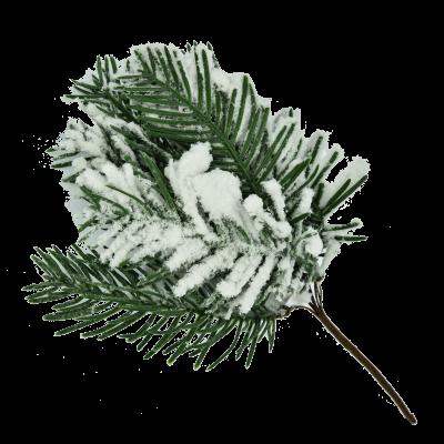 Gałązka ozdobna ze sztucznym śniegiem 21,5cm