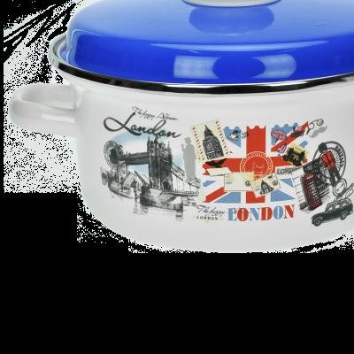 Komplet garnków emaliowanych LONDON 6 elementów