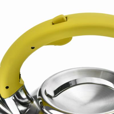Czajnik nierdzewny z żółtą rączką HIVER 3l - 6