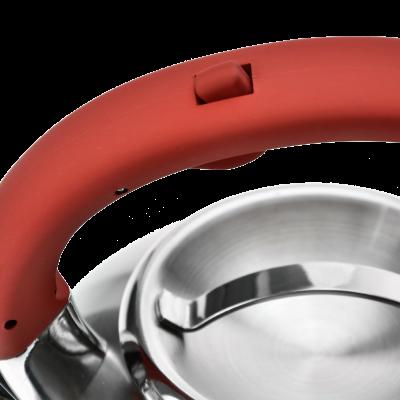 Czajnik nierdzewny z czerwoną rączką HIVER 3l
