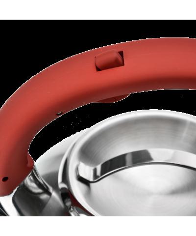 Czajnik nierdzewny z czerwoną rączką HIVER 3l  - 6