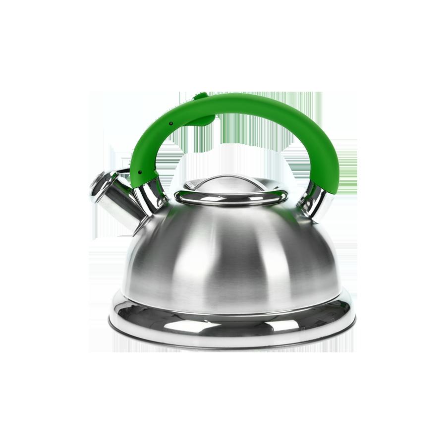 Czajnik nierdzewny z zieloną rączką HIVER 3l - 1