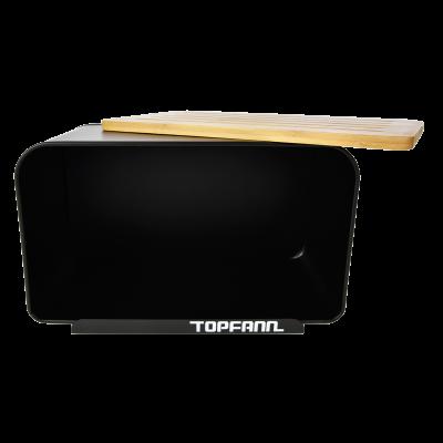 Chlebak z bambusową pokrywą TOPFANN 25cm czarny TOPFANN - 2