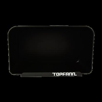 Chlebak z bambusową pokrywą TOPFANN 25cm czarny TOPFANN - 3