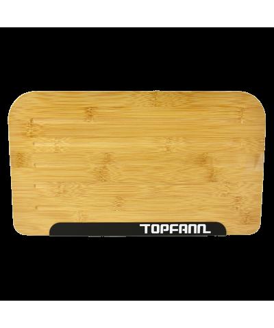 Chlebak z bambusową pokrywą TOPFANN 25cm czarny TOPFANN - 1