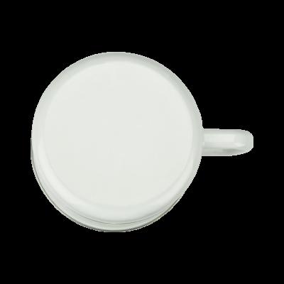 Kubek emaliowany z plastikową pokrywą KWIATY 250ml - 2
