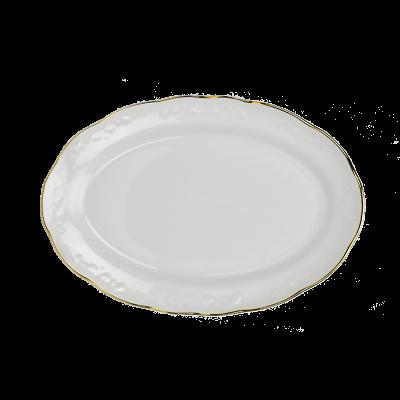 Serwis obiadowy 12/49 IRENA ZŁOTY PASEK - 10
