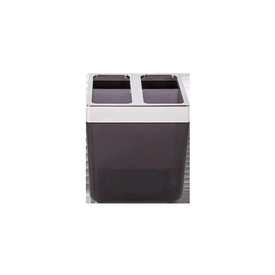 Pojemnik na szczoteczki do zębów czarny TOSKANA 9,5cm Stalman - 1