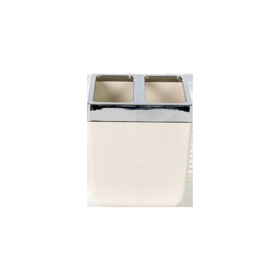 Pojemnik na szczoteczki do zębów beżowy TOSKANA 9,5cm Stalman - 1