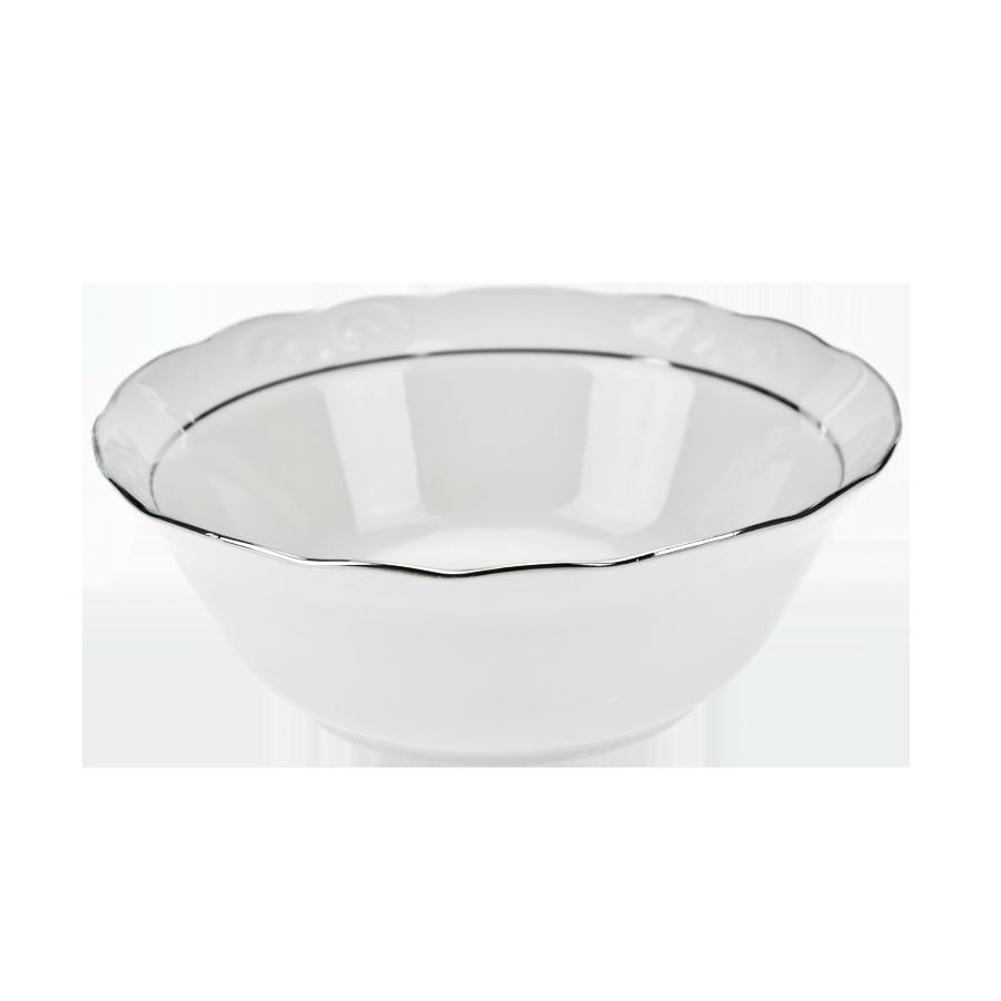 Salaterka porcelanowa IRENA platynowy pasek 20 cm