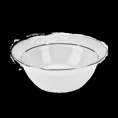 Salaterka porcelanowa IRENA platynowy pasek 14 cm