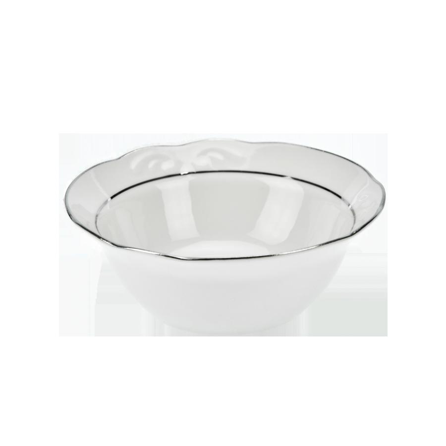 Salaterka IRENA platynowy pasek 14cm - 1