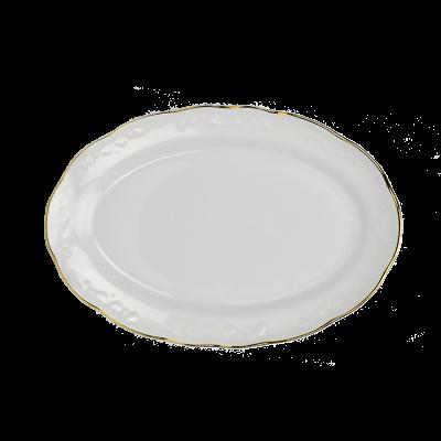Półmisek porcelanowy IRENA złoty pasek 31,5 cm