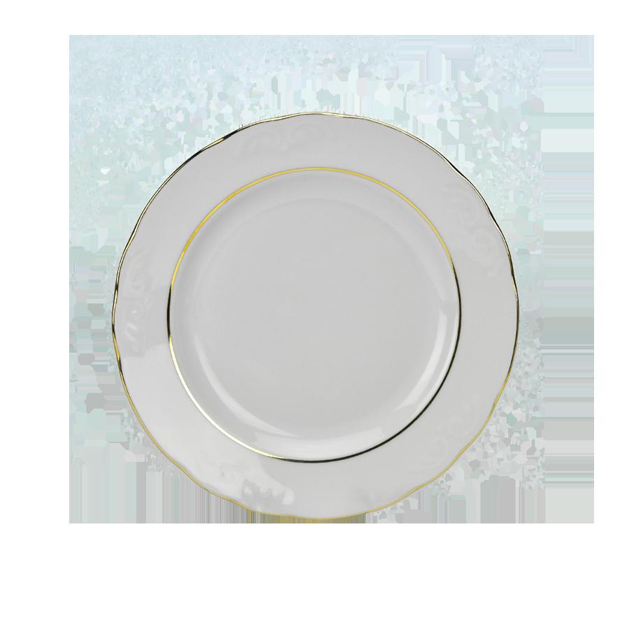 Talerz deserowy IRENA złoty pasek 20cm - 1