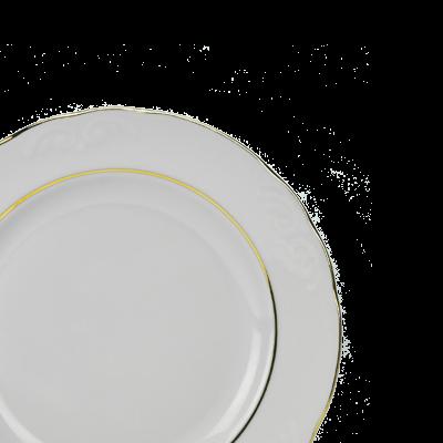 Talerz deserowy IRENA złoty pasek 20cm - 2