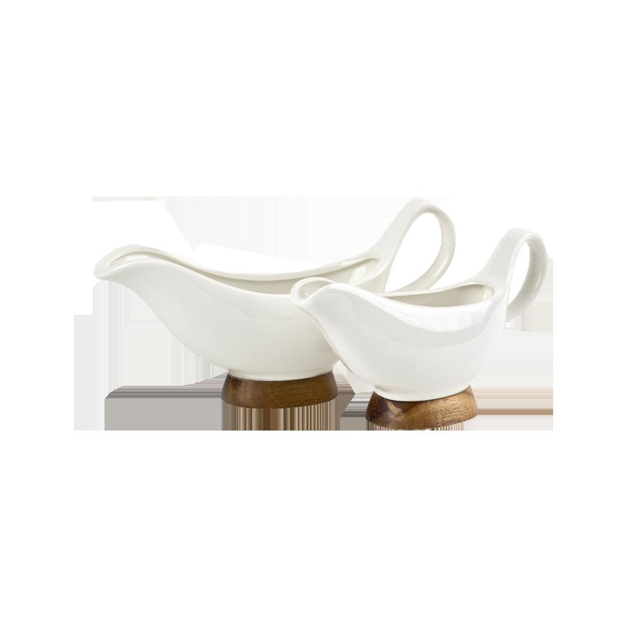 Komplet 2 sosjerek porcelanowych KASSEL