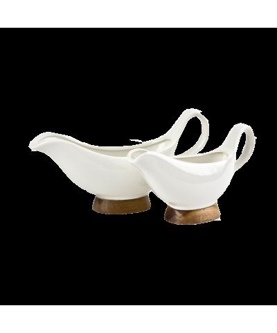 Komplet 2 sosjerek porcelanowych KASSEL  - 1