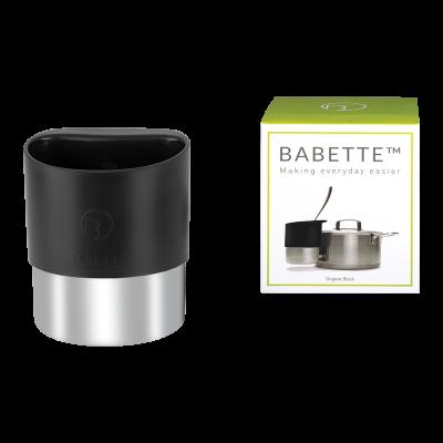 Pojemnik stalowy na chochle/łyżki BABETTE BLACK
