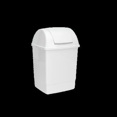 Kosz SILVER z pokrywą 12l biały