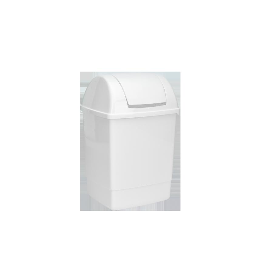 Kosz SILVER z pokrywą 12l biały - 1