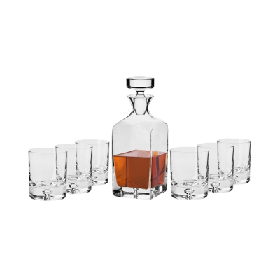 Komplet do whisky SAGA LEGEND KROSNO 7-częściowy