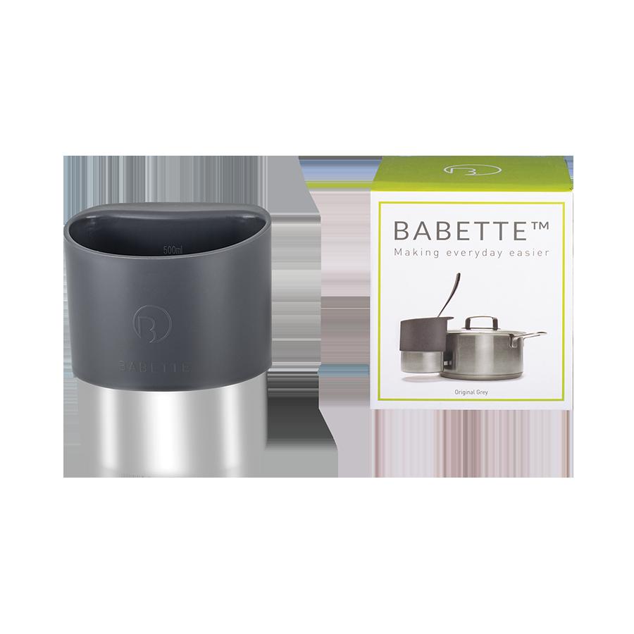 Pojemnik stalowy na chochle/łyżki BABETTE DARK GREY