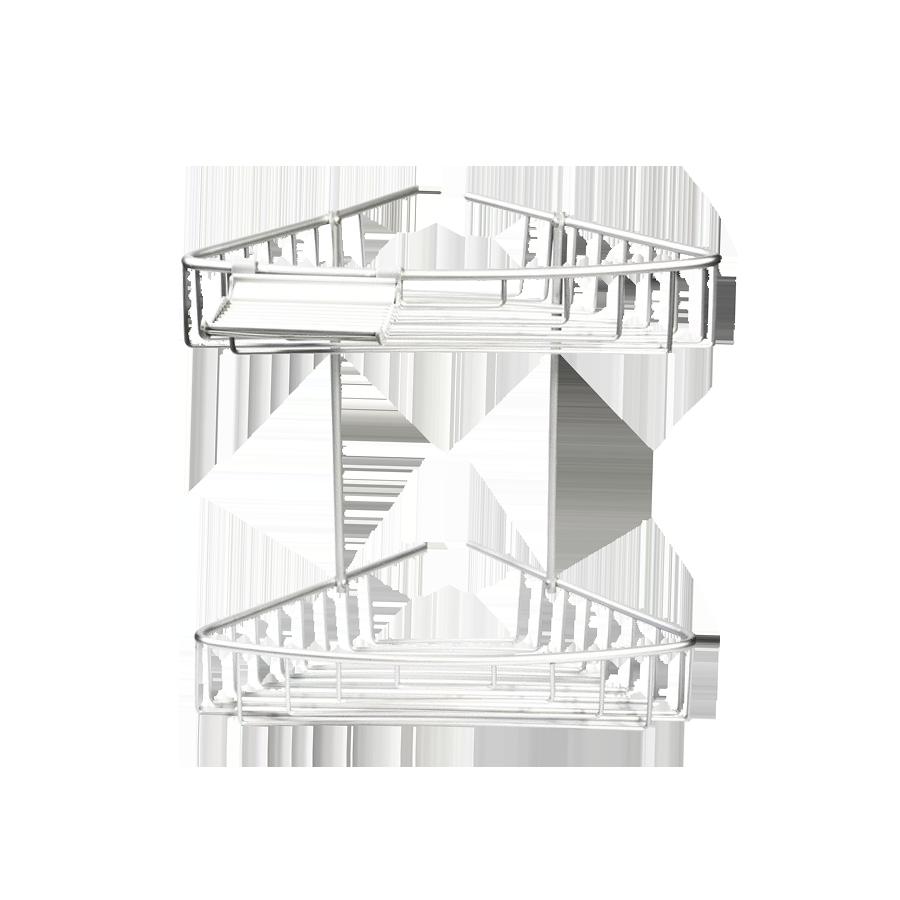 Półka prysznicowa narożna 2-poziomowa PALOMA Stalman - 2