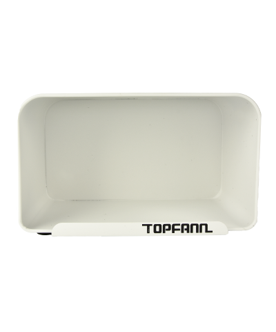 Chlebak z bambusową pokrywą TOPFANN 25cm biały TOPFANN - 3