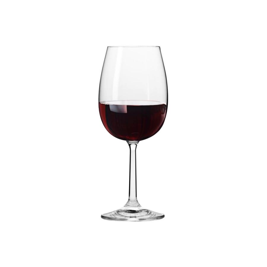 Komplet 6 kieliszków do wina czerwonego BASIC 350ml Krosno - 1