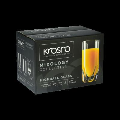 Komplet 6 szklanek LONG DRINK KROSNO 300ml Krosno - 3