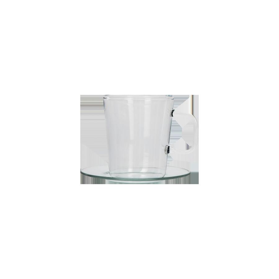 Komplet 4 filiżanek ze spodkiem do espresso 100ml