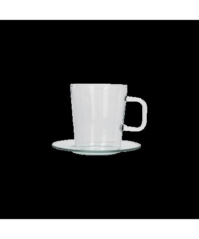 Komplet 4 filiżanek ze spodkiem do espresso 100ml - 1