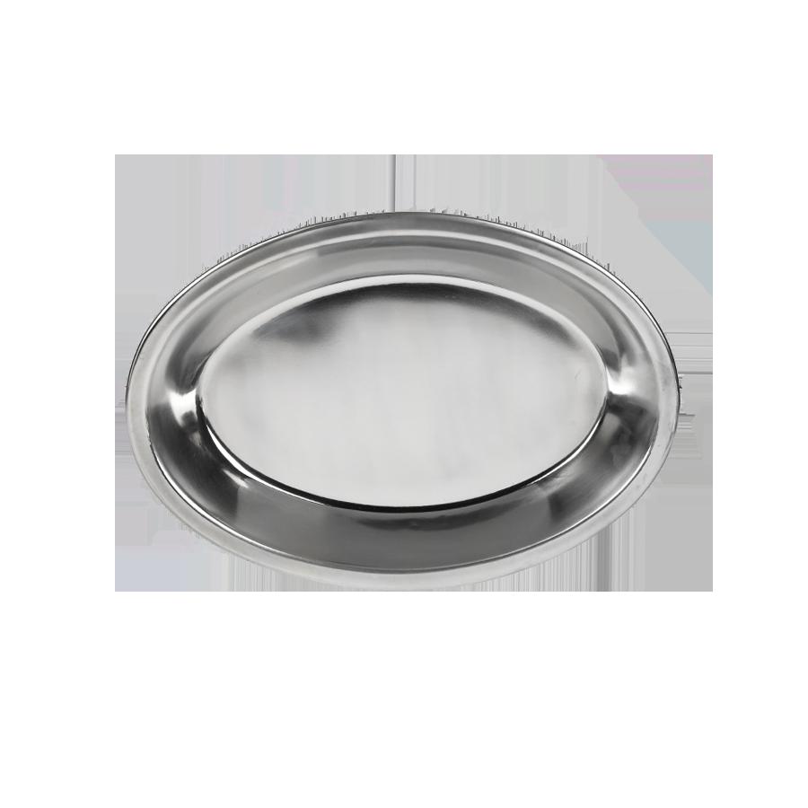 Taca nierdzewna owalna z obręczą 30cm PRYMUS AGD - 1