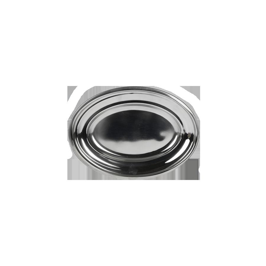 Taca nierdzewna owalna z obręczą 25cm PRYMUS AGD - 1