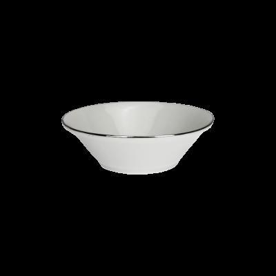 Salaterka porcelanowa platynowy pasek 17 cm