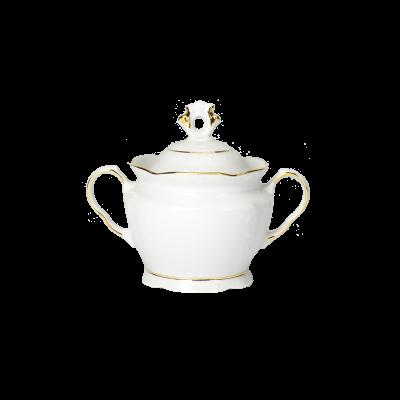 Cukiernica porcelanowa IRENA złoty pasek 350 ml