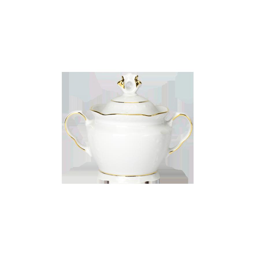 Cukiernica porcelanowa IRENA ZŁOTY PASEK 350ml - 1