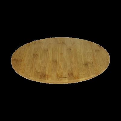 Taca obrotowa z drewna bambusowego 35cm - 2