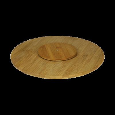 Taca obrotowa z drewna bambusowego 35cm - 3