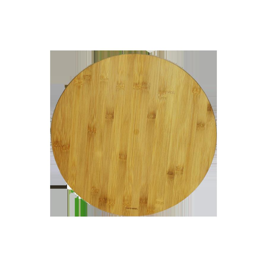 Taca obrotowa z drewna bambusowego 35cm - 1