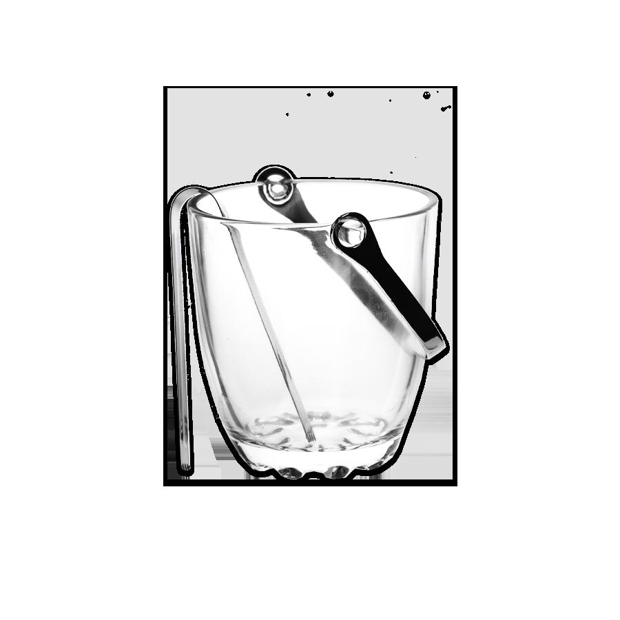 Szklane naczynie do lodu ze szczypcami 700ml - 1