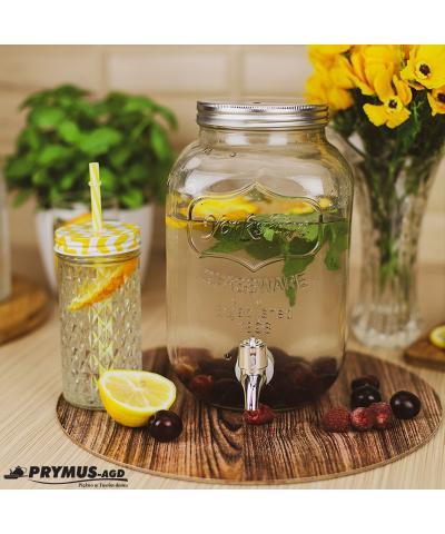 Słój szklany z kranikiem 4 l - 4