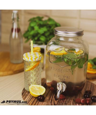 Słój szklany z kranikiem 4 l - 7