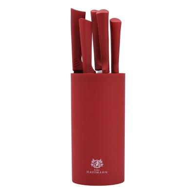 Zestaw noży w bloku MARCO RED 5-elementowy