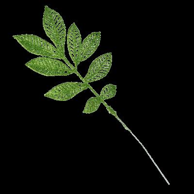 Gałązka brokat zielona