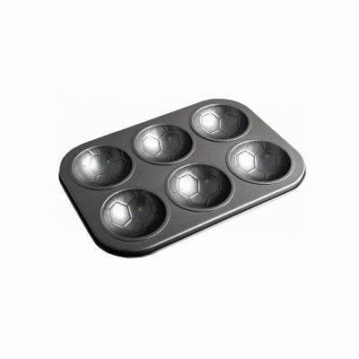 Forma do muffinek PRIMO Football 6szt. - 1
