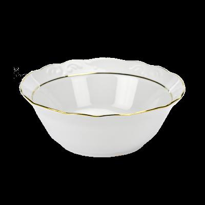 Salaterka porcelanowa IRENA złoty pasek 20 cm
