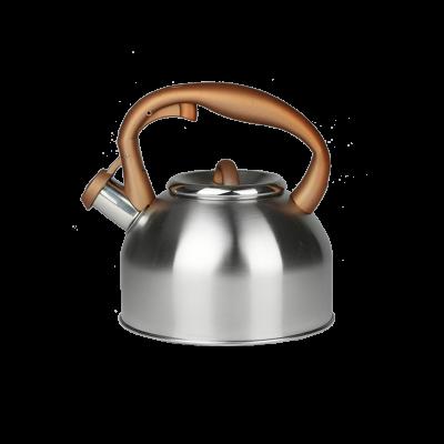 Czajnik stalowy z brązową rączką 2,7l
